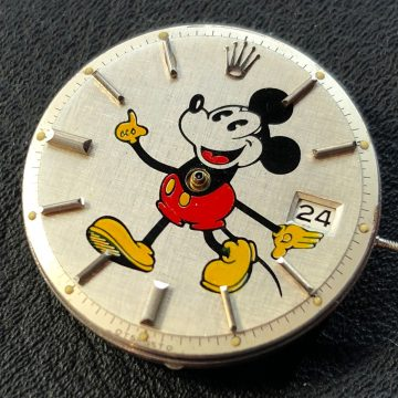 Rolex Date Just Mickey Mouse Pie Pan dial